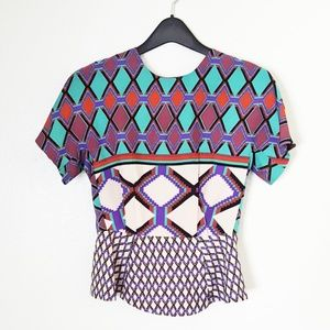 W118 by Walter Baker peplum blouse